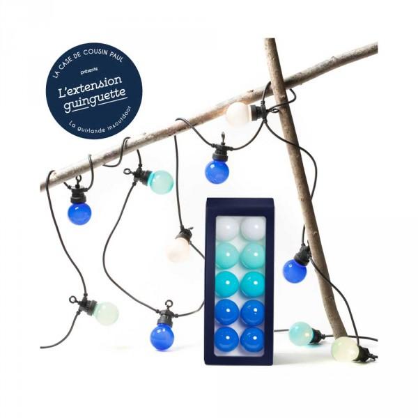 Cousin Paul Lichterkette Outdoor LED Verlängerung Pampelone weiss mint blau