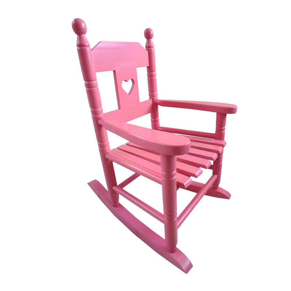 Powell Craft Kinderschaukelstuhl Holz rosa bei kinder räume