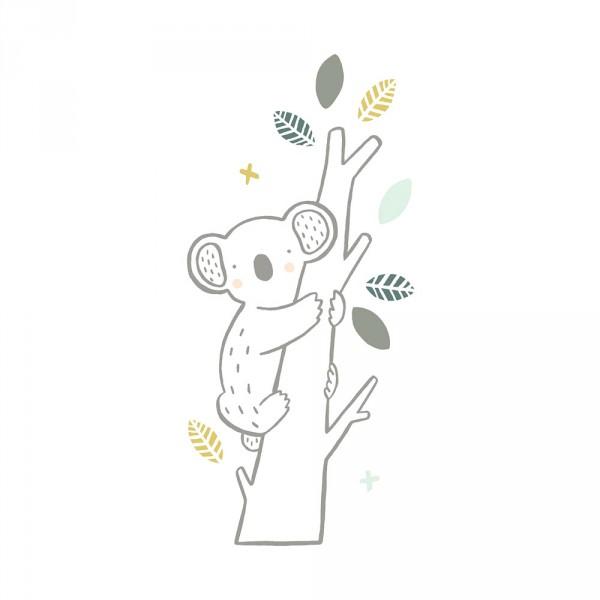 Lilipinso Wandsticker XL Kleiner Koala auf Ast grau grün