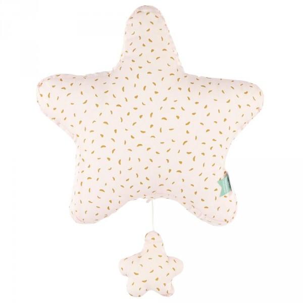 """Trixie Baby Spieluhr """"Moonstone"""" Stern gelb rosa"""
