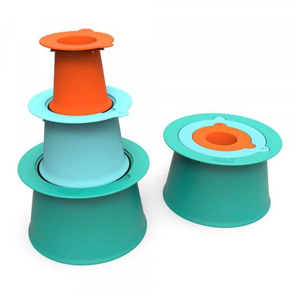 Quut Sandförmchen Turmhilfe ALTO grün türkis orange