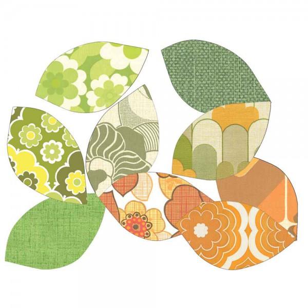 Inke Tapetenblätter grün/braun