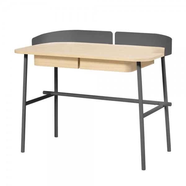 Harto Schreibtisch Victor Eiche & Metall grau
