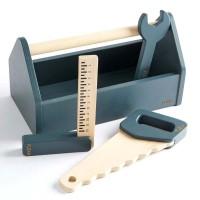 Flexa Kinder Werkzeugkasten Holz blau