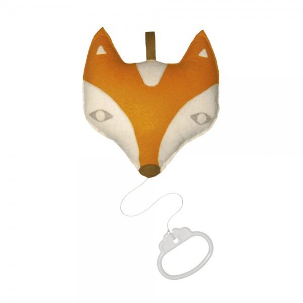 Taftan Spieluhr Fuchs & Rabe orange