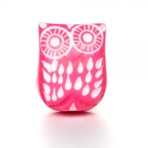 Knaufmanufaktur Möbelknopf Eule pink