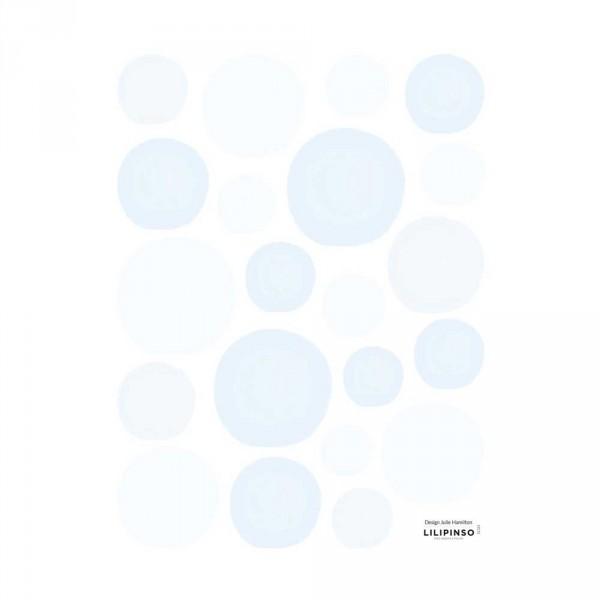 Lilipinso Wandsticker Blasen hellblau
