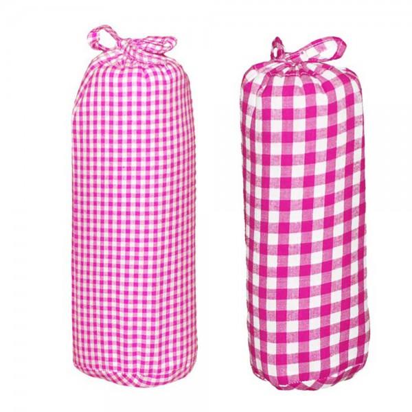 Taftan Spannbettlaken 70 x 140 vichy & karo pink