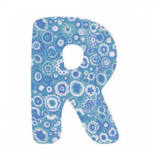 Lilipinso Sticker blau Buchstabe r