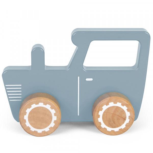 Little Dutch Holz Spielzeugauto Trecker blau