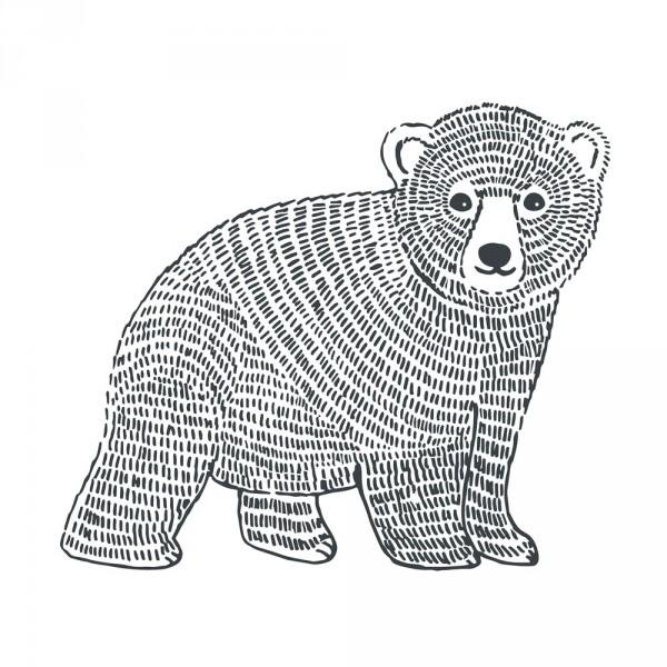 Lilipinso Wandsticker XL Bär schwarz