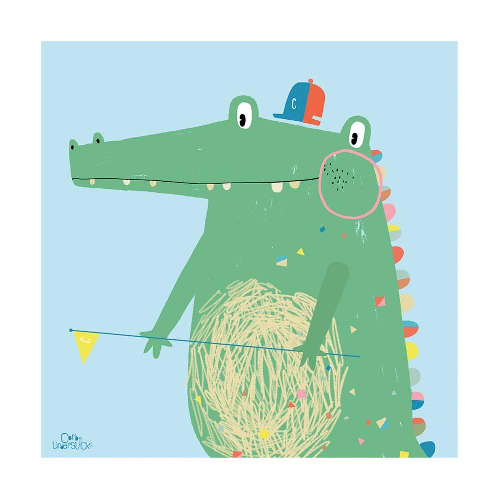Lilipinso bild krokodil mit wimpel bei kinder r ume - Wimpel babyzimmer ...