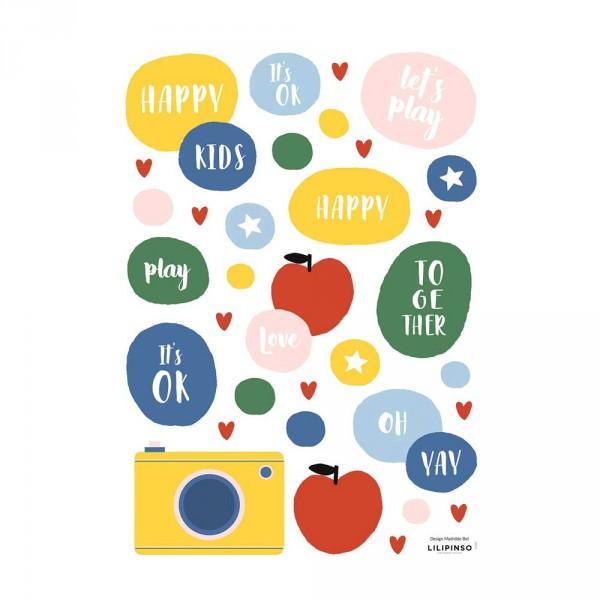 Lilipinso Wandsticker A3 Apfel, Kamera & mehr