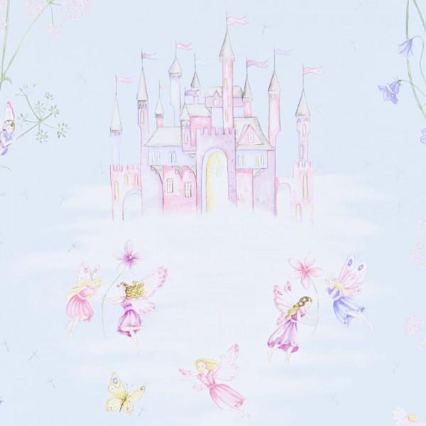 Little Sanderson Abracazoo Tapete Märchenschloss hellblau lila pink