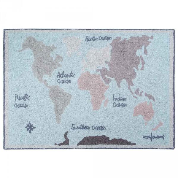Lorena Canals Teppich Weltkarte