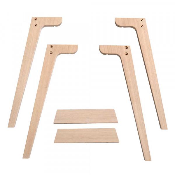 Oliver Furniture Wood Extrabeine für Schreibtisch 66 cm Holz Eiche