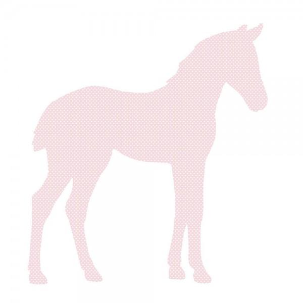 Inke Tapetentier Fohlen rosa Punkte weiss
