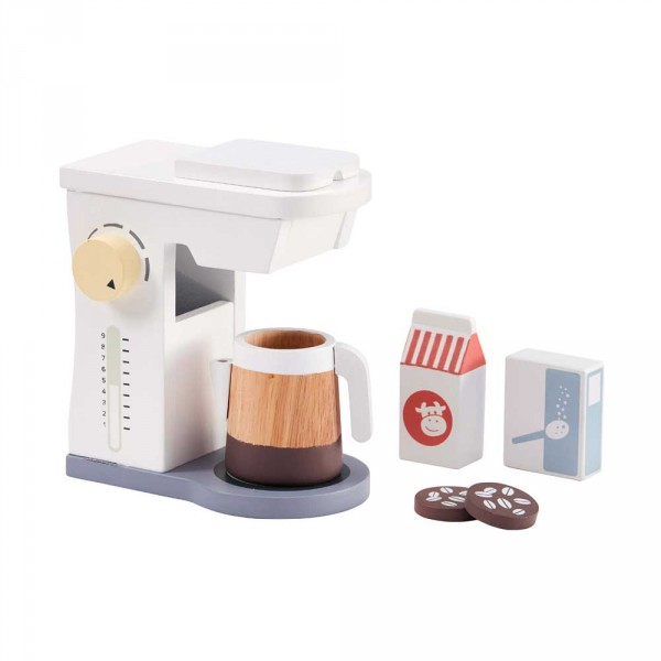 Kids Concept Spiel Kaffeemaschine aus Holz mit Zubehör