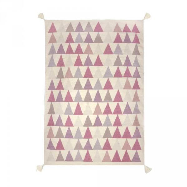 Art for Kids Kinderteppich Dreiecke flieder