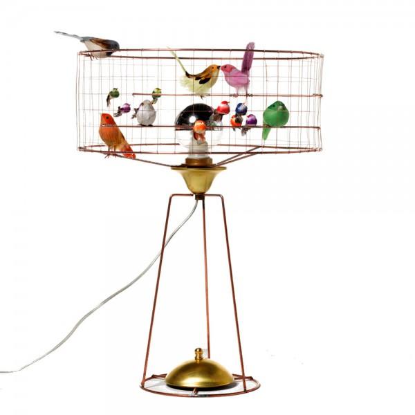 Challières Tischlampe Vogelvoliere