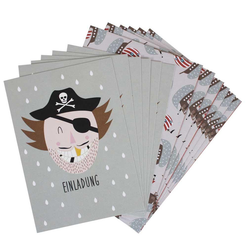 ava  yves einladungskarten kindergeburtstag pirat bei
