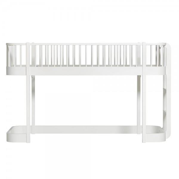 Oliver Furniture Wood halbhohes Bett weiß
