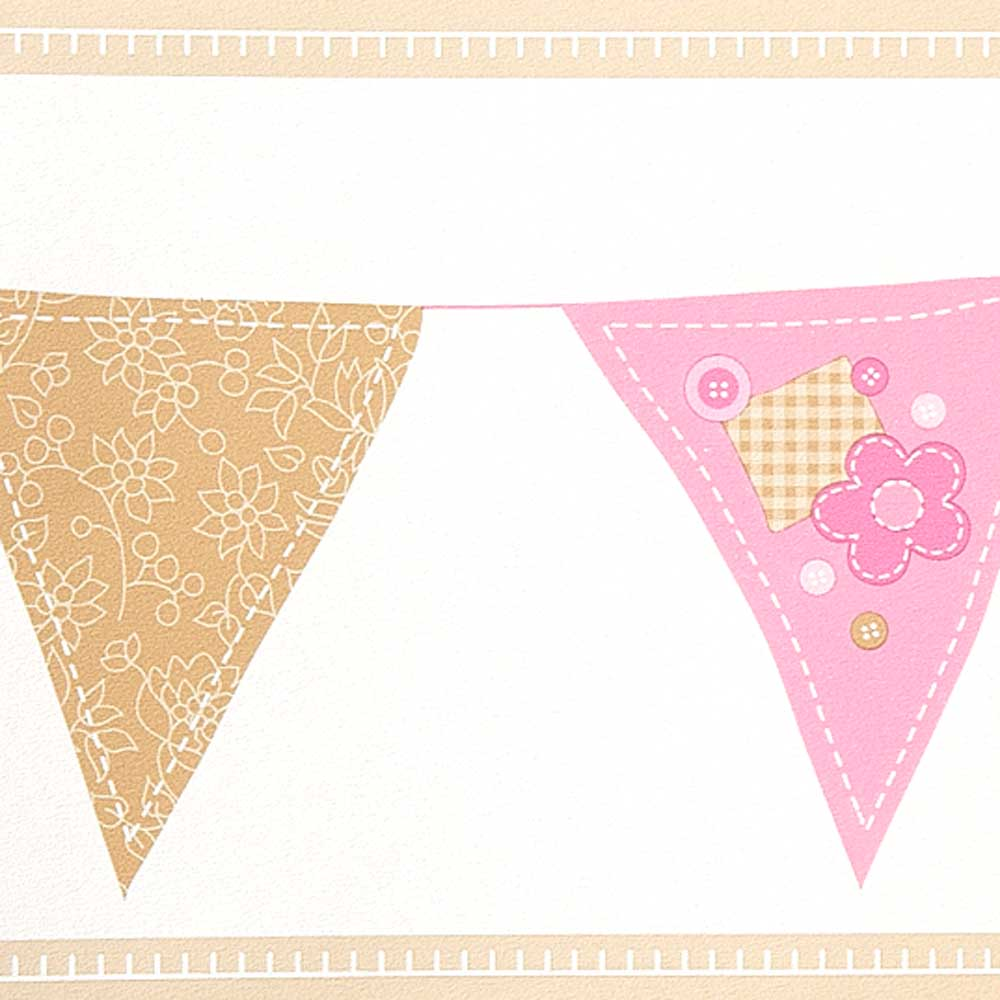 Caselio girls only bord re wimpel rosa pink gold bei kinder r ume - Wimpel babyzimmer ...
