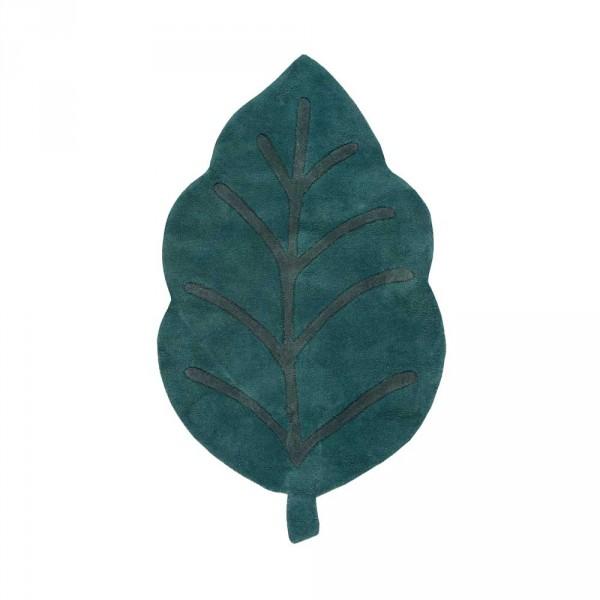 Lilipinso Teppich Blatt grün