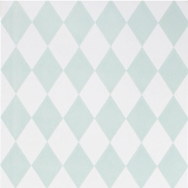 Ferm Living Tapete Harlequin mint