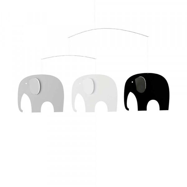 Flensted Mobile Elefanten grau