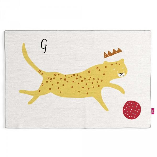 Nidi Kinderteppich Gepard mit Krone & Ball