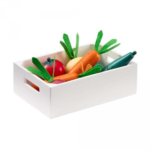 Kids Concept Holzkiste mit Gemüse für Kinderküchen