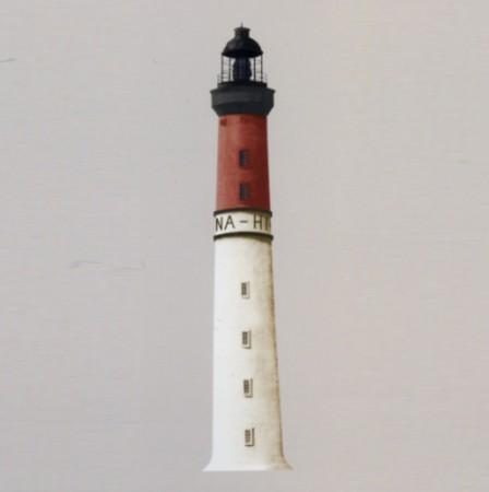 Casadeco Wandbild Leuchtturm rot