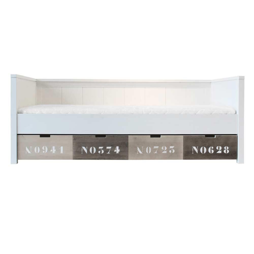Bopita Basic Wood Tagesbett 90 X 200 White Wash Bei Kinder Raume