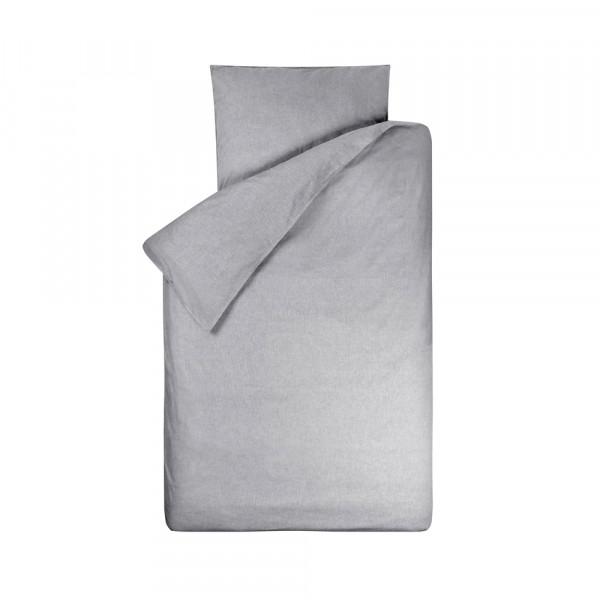 Bink Kinderbettwäsche Bo uni grau 100 x 135