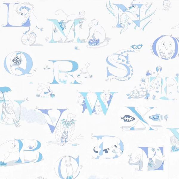 Little Sanderson Abracazoo Tapete Alphabet creme blau