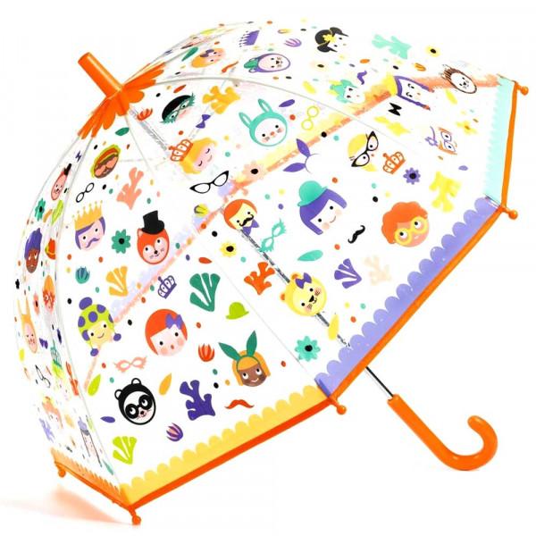 Djeco Kinder Regenschirm Gesichter