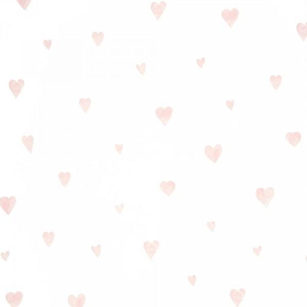 Casadeco Alice & Paul Tapete Herzen rosa