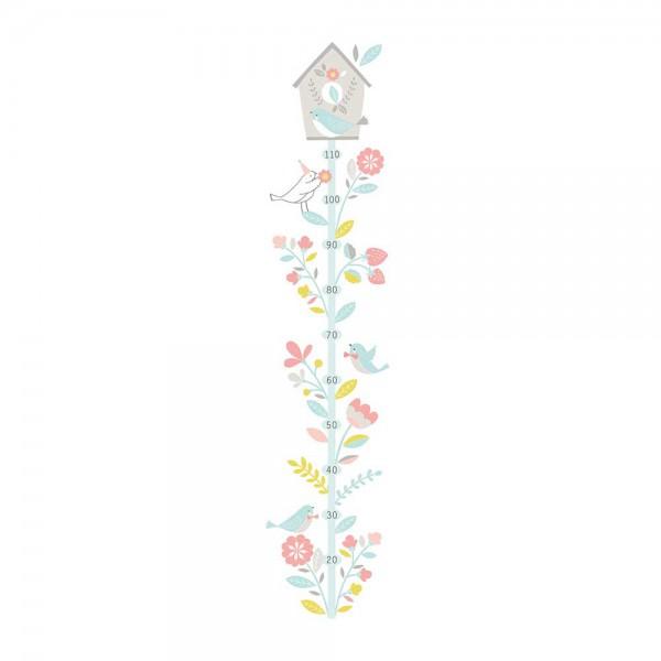 Lilipinso Messlatte selbstklebend Vogelhaus pastell