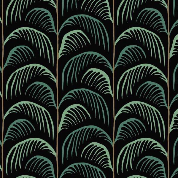 Eijffinger Mini Me Tapete Palmen Blätter grün schwarz