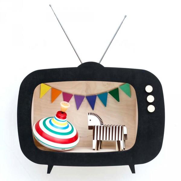 Up Warsaw Wandregal TV Fernseher Tiwi schwarz