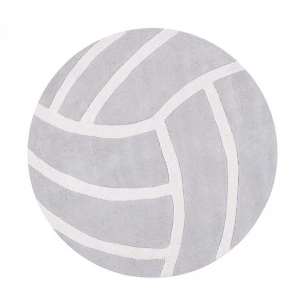Lilipinso Teppich Volleyball rund grau