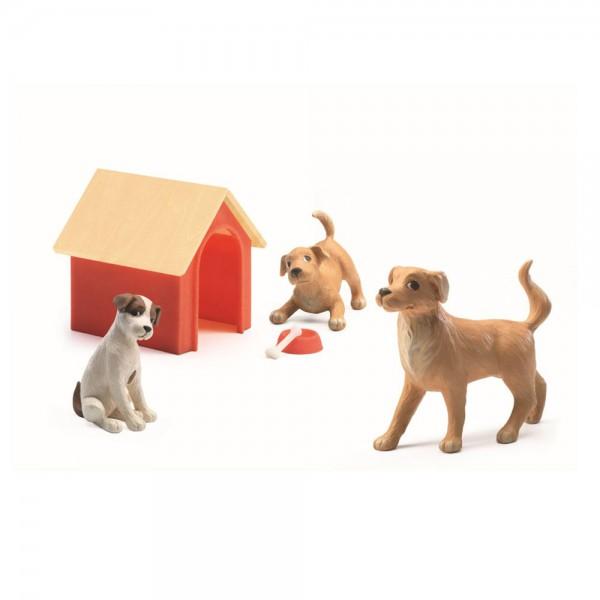 Djeco Zubehör Puppenhaus Hunde