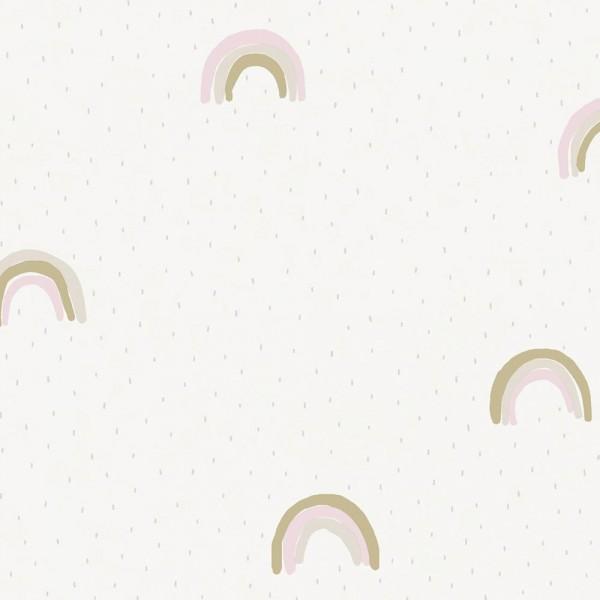 Eijffinger Mini Me Tapete Regenbogen rosa gold grau