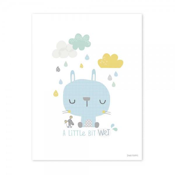 Lilipinso Poster Hase im Regen