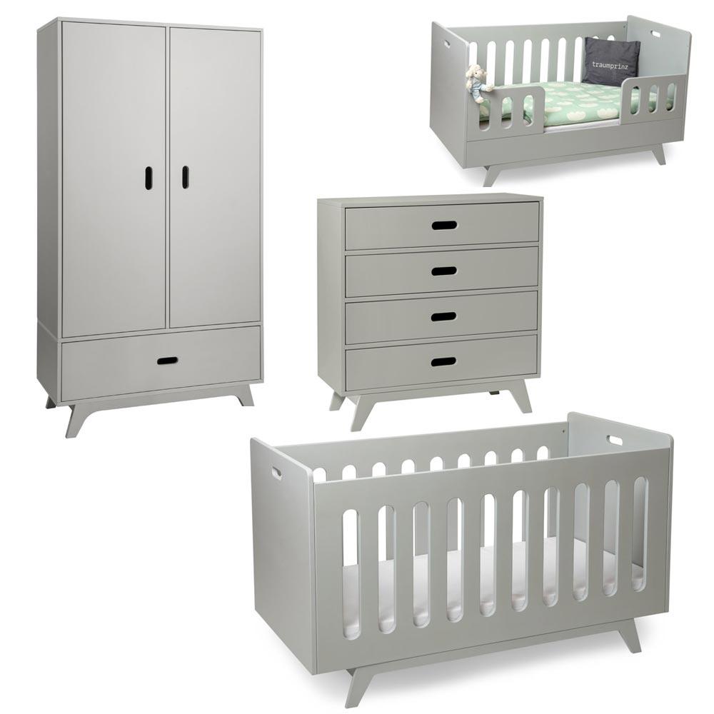 Mimm Babyzimmer Komplett Hellgrau 2 Turiger Schrank Bei Kinder Raume