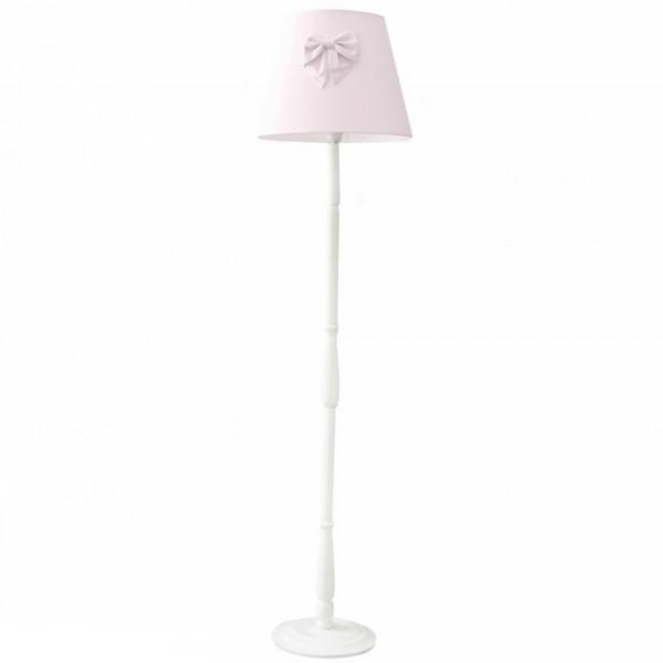 Caramella Stehlampe gedrechseltes Bein Schleife rosa