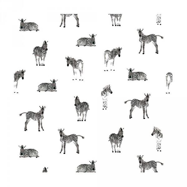 Lilipinso Vlies Tapete Zebras grau