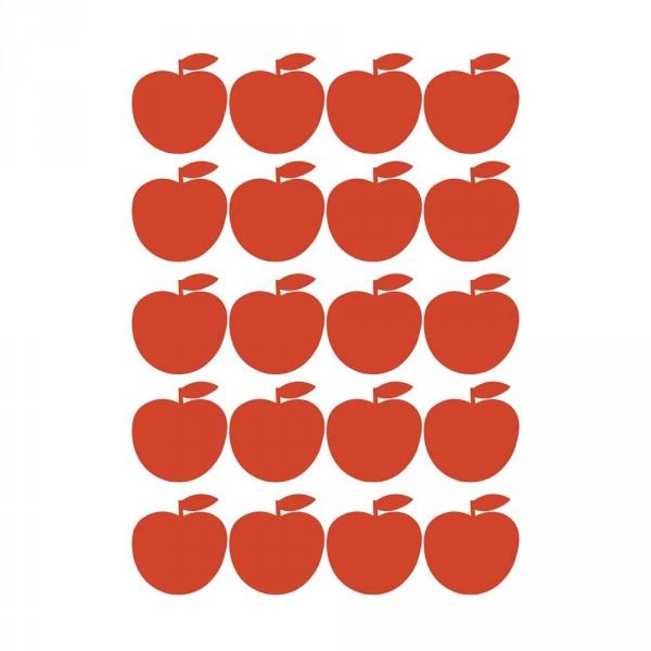 Lilipinso Wandsticker A3 Äpfel rot