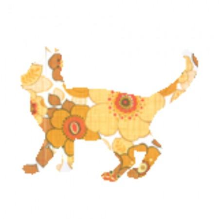 Inke Tapetentier Katze Ranke orange